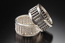 Woven Band Rings by Linda Bernasconi (Silver Ring)
