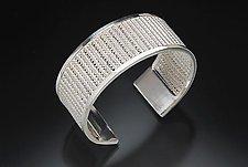 Fine Silver Woven Cuff Bracelet by Linda Bernasconi (Silver Bracelet)