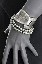 Interlocking Triangles with Beads by John Siever (Silver Bracelet)
