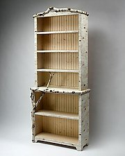 Birch Bark Bluff: Full Shelf by Mike Dillon (Wood & Resin Bookcase)