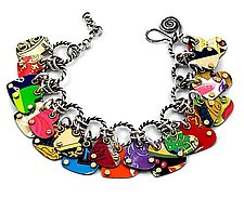 Charmed Hearts Convertible Bracelet & Necklace by Beth Taylor (Metal Bracelet or Necklace)