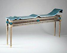 The Wave Table by Mike Dillon (Wood & Resin Console Table)