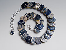 Denise Necklace - Symmetry by Louise Fischer Cozzi (Silver & Polymer Clay Necklace)