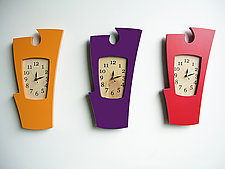 Simon Says - Vibrant Colors by Vincent Leman (Wood Clock)