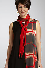 Silk Single Pleat Scarf by Laura Hunter  (Silk Scarf)