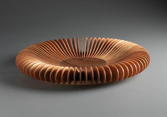 Cherry centerpiece bowl by robert wilhelm wood vessel