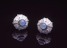 Bermuda Queen by Hratch Babikian (Silver & Stone Earrings)