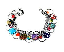 Orbit Recycled Tin Convertible Bracelet & Necklace by Beth Taylor (Metal Bracelet or Necklace)