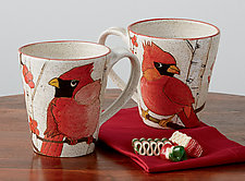 Cardinal Mug by Dwo Wen Chen (Ceramic Mug)