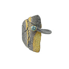 Large Bedrock Wrap Ring by Jenny Reeves (Gold, Silver & Stone Ring)