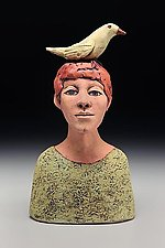 Boy with Bird by Ed Byers and Holden McCurry (Ceramic Sculpture)