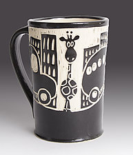 Giraffe in the City Mug by Jennifer  Falter (Ceramic Mug)