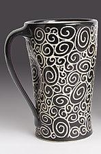 Doodle Mug by Jennifer  Falter (Ceramic Mug)