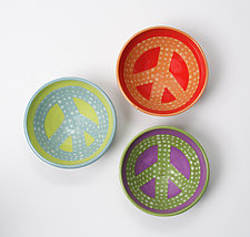 Peace Bowl by Lacey Goodrich (Ceramic Bowls)