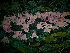 Pink Flowers by Thomas Lo Cicero (Watercolor Painting)