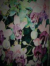Flower Garden by Thomas Lo Cicero (Watercolor Painting)
