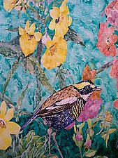Bird in the Garden by Thomas Lo Cicero (Watercolor Painting)
