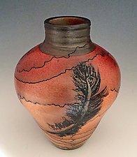Horsehair Amphora by David Gordon (Ceramic Vessel)