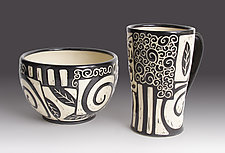 Patches Bowl by Jennifer  Falter (Ceramic Bowl)