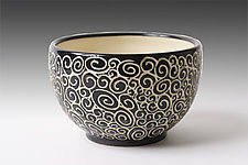 Doodle Bowl by Jennifer  Falter (Ceramic Bowl)