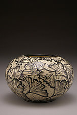 Ginkgo Vase by Jennifer  Falter (Ceramic Vase)