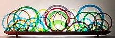 Rush Hour by Bernie Huebner and Lucie Boucher (Art Glass Sculpture)
