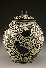 Blackbird Cookie Jar by Jennifer  Falter (Ceramic Cookie Jar)