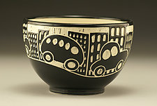 City Scene Bowl by Jennifer  Falter (Ceramic Bowl)