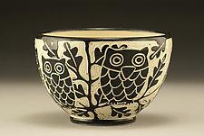 Owl Bowl by Jennifer  Falter (Ceramic Bowl)