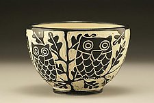 Owl Bowl by Jennifer  Falter (Ceramic Bowl)