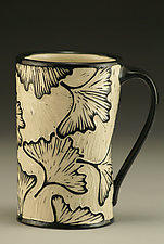 Ginkgo Mug by Jennifer  Falter (Ceramic Mug)