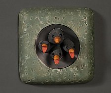 Bird Family by Marilee Hall (Ceramic Wall Sculpture)