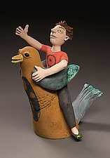 Jesse Shows Andy the Stars by Marilee Hall (Ceramic Sculpture)
