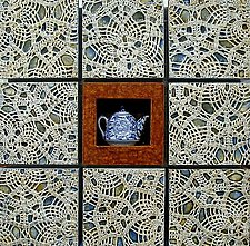 Tea Cozy 2 by Kathleen Holmes (Mixed-Media Wall Sculpture)