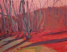 Grouping of Birches by Leonard Moskowitz (Acrylic Painting)