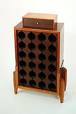 Lotus Wine Rack by Chris Horney (Wood Wine Rack)