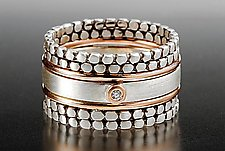 Blink Stack Rings by Linda Bernasconi (Gold, Silver, & Stone Rings)