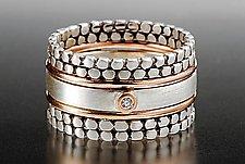 Blink Stack Rings by Linda Bernasconi (Gold, Silver, & Stone Rings)