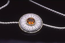 Atlantic Dome by Hratch Babikian (Gold, Silver, & Stone Pendant)