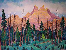 Crystal Peaks No.5 by Thomas Lo Cicero (Oil Painting)