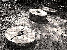 Grinding Stones - Three by Joni Purk (Black & White Photograph)