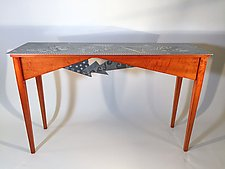 Cherry Triangles by Evy Rogers and Joe  Jacob (Wood & Metal Console Table)