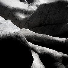 Yuba River Granite No. 1 by Steven Keller (Black & White Photograph)