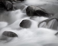 Icicle Creek Rapids No. 2 by Steven Keller (Black & White Photograph)