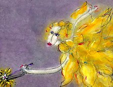 Yellow Flower Fairy by Roberta Ann Busard (Giclee Print)