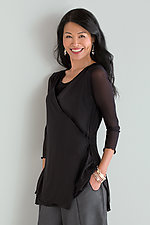 Cross Front Mesh Tunic by Cynthia Ashby  (Mesh Tunic)