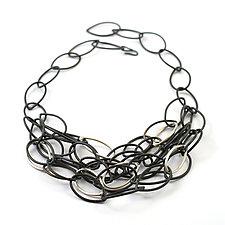 Lena Necklace by Megan Auman (Silver & Steel Necklace)