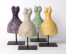 Spring Dress by Cathy Broski (Ceramic Sculpture)