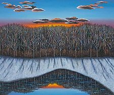 Winter Reflection by Scott Kahn (Oil Painting)