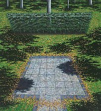 Patio and Hedge by Scott Kahn (Oil Painting)